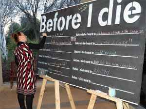 Guests wrote on Before I Die wall